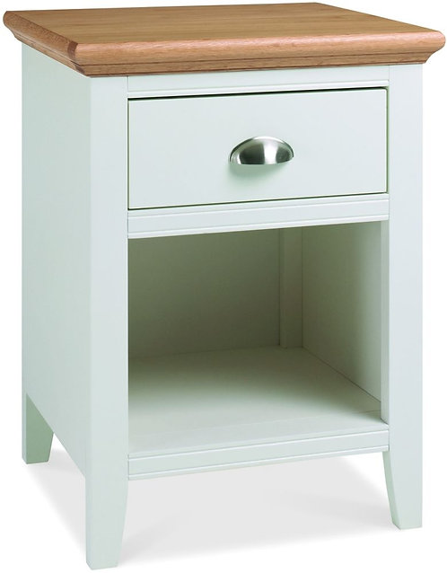 Hampstead Two Tone 1 Drawer Bedside Cabinet