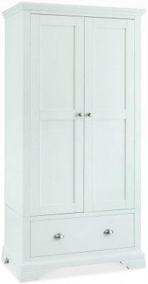 Hampstead White 2 Door Double Wardrobe