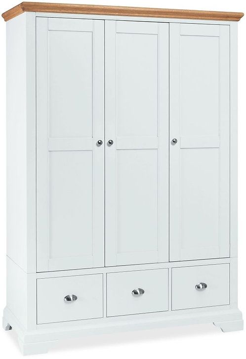 Hampstead Two Tone 3 Door Triple Wardrobe