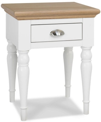 Hampstead Two Tone 1 Drawer Lamp Table with Turned Legs