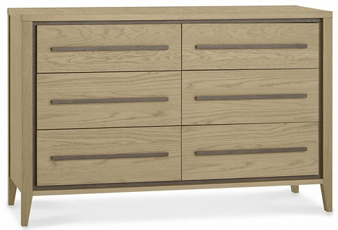 Rimini Aged and Weathered Oak 6 Drawer Chest