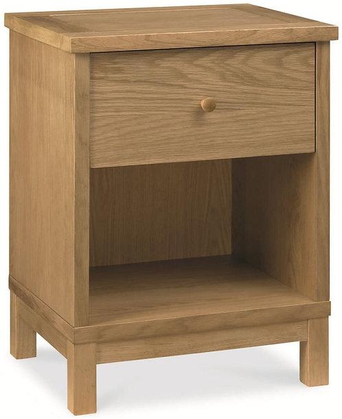 atlanta oak bedside one drawer bentley designs sand cornwall st ives