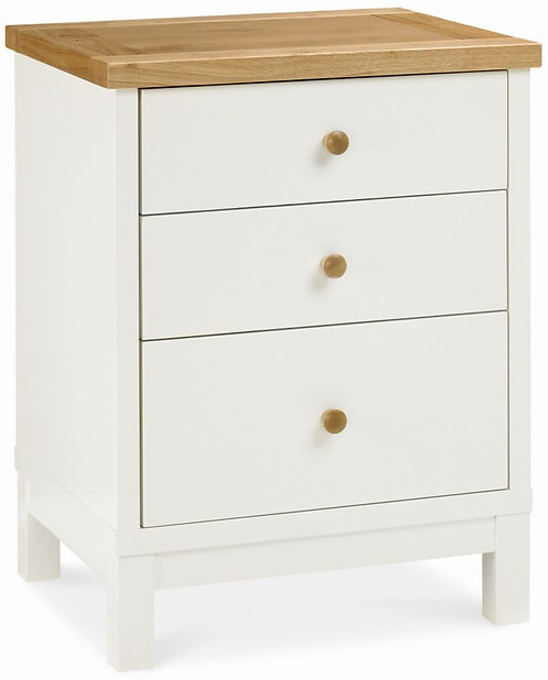 Atlanta Two Tone 3 Drawer Bedside Table