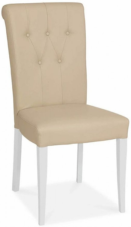 Hampstead Two Tone Ivory Bonded Leather Upholstered Dining Chairs