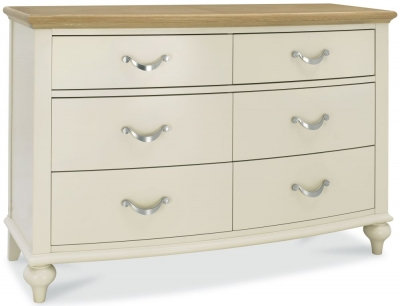 Montreux Pale Oak and Antique White 6 Drawer Chest