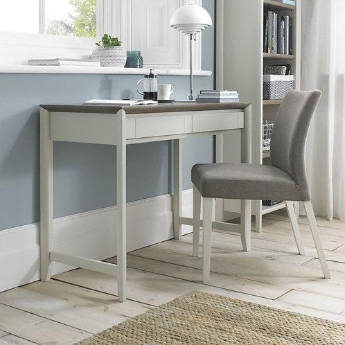 Bergen Grey Washed Oak and Soft Grey 2 Drawer Desk