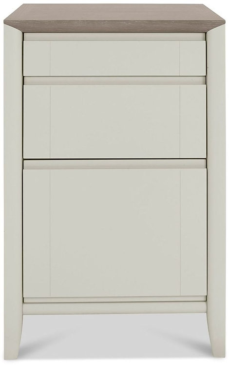Bergen Grey Washed Oak and Soft Grey 3 Drawer Filing Cabinet