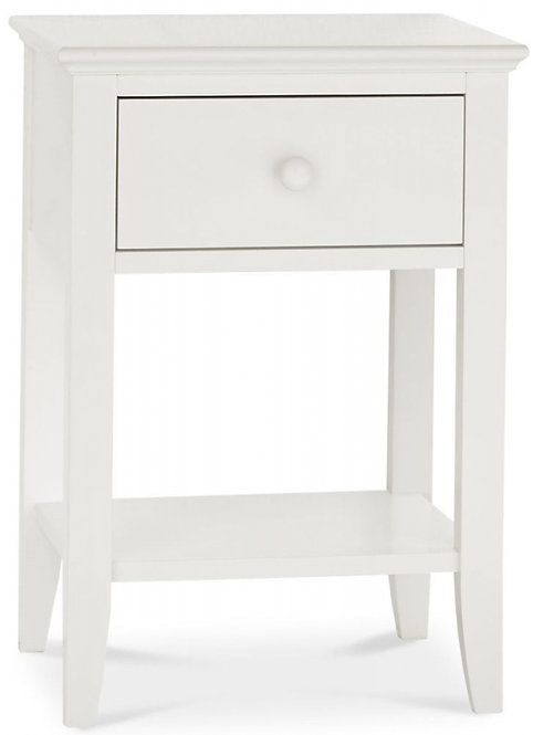 Ashby White 1 Drawer Bedside Table
