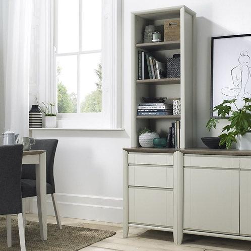 Bergen Grey Washed Oak and Soft Grey Narrow Dresser Top Unit