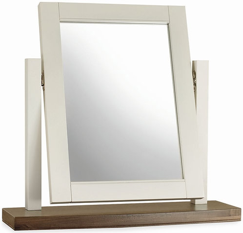 Hampstead Soft Grey and Walnut Vanity Mirror