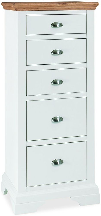 Hampstead Two Tone 5 Drawer Tall Chest
