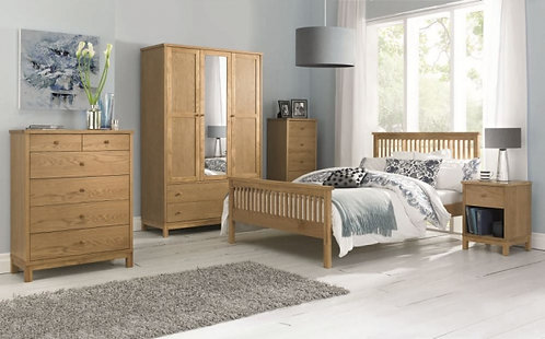 Atlanta Oak Bedroom Set with High Foot End Bed