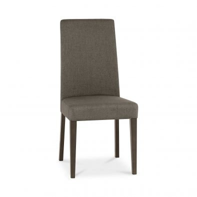 Miles Walnut Taper Back Chair (pair) - Titanium Fabric