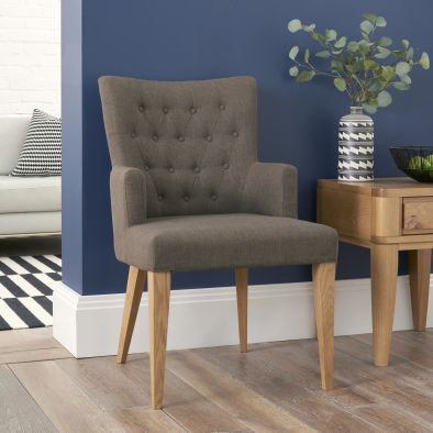High Park Upholstered Arm Chair - Black Gold (Pair)