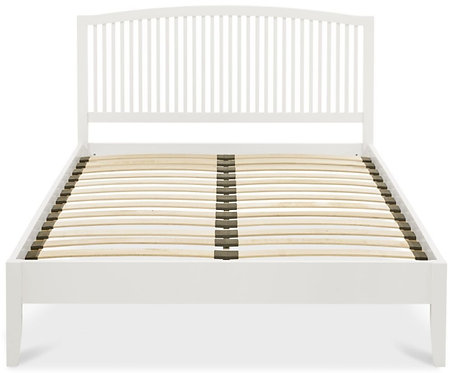 Atlanta Soft White Low Foot End Bedstead