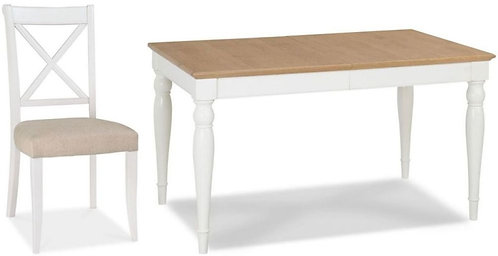 Hampstead 4-6 Two Tone Rectangular Extending Dining Set with  X Back Chairs