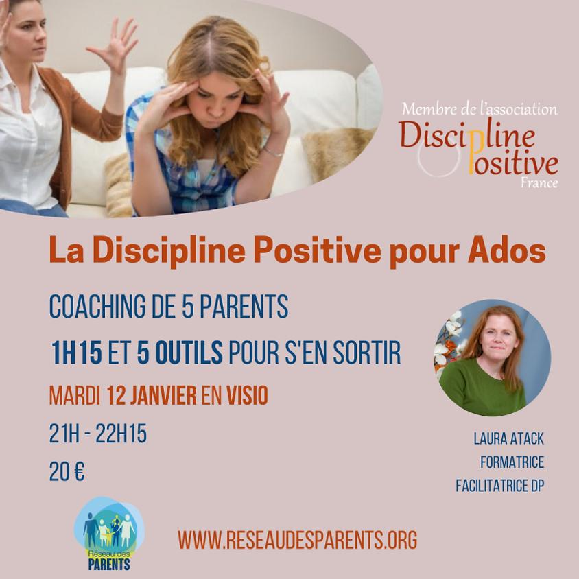 La Discipline Positive pour Ados: un atelier de coaching de groupe en Visio.