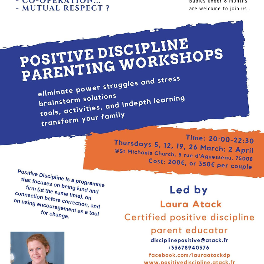 Parenting Workshops - Series of 5  - workshop 2