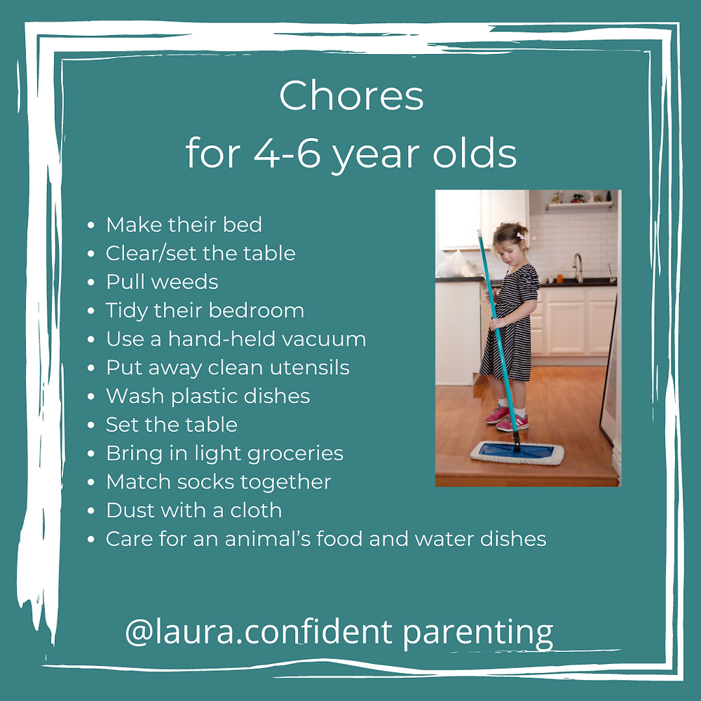 what chores can a 4 year old do?