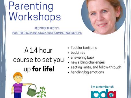 Parenting workshops for under 5s