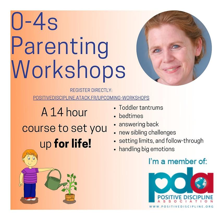 0-4s Parenting Workshops - series of 7 online