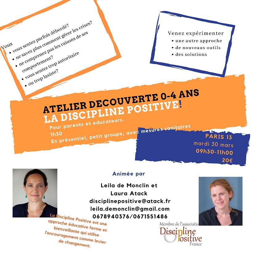 Conference 0-4 ans La Discipline Positive!