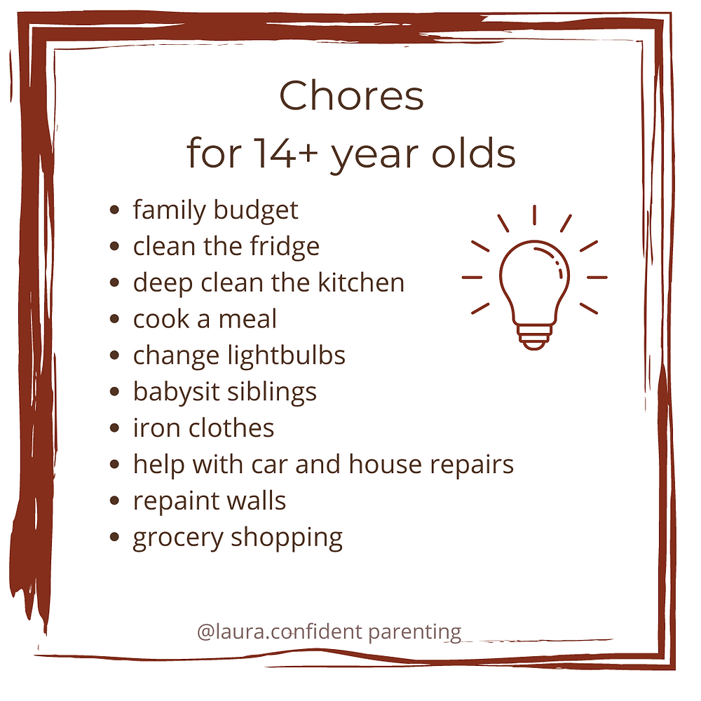 What jobs can my teenager do at home?
