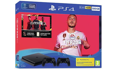 Playstation 4 500 GB+ FIFA 20 + 2 Controllers