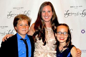 2015 Host's Owen Judge and Oona Laurence, with Lyrics for Life creator, Laura Luc