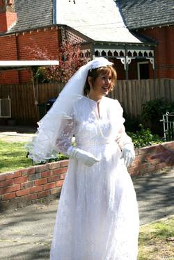 Radiant. (My original wedding dress)