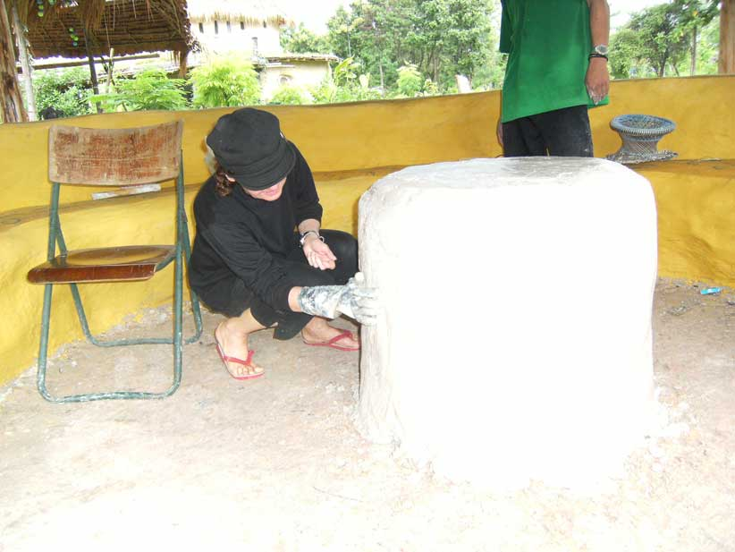 34.plastering table base