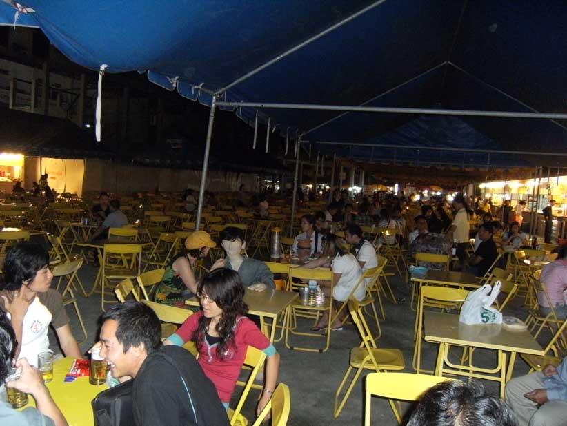 Dinner in Burmese market