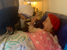 The nuns visit