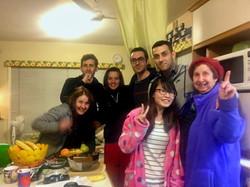 Jane (far left) with Gil, Sandra, Kamran, Sadra, Bee & Mum