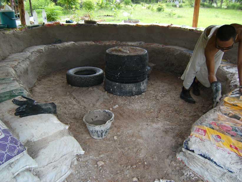 24. Plastering mud bags