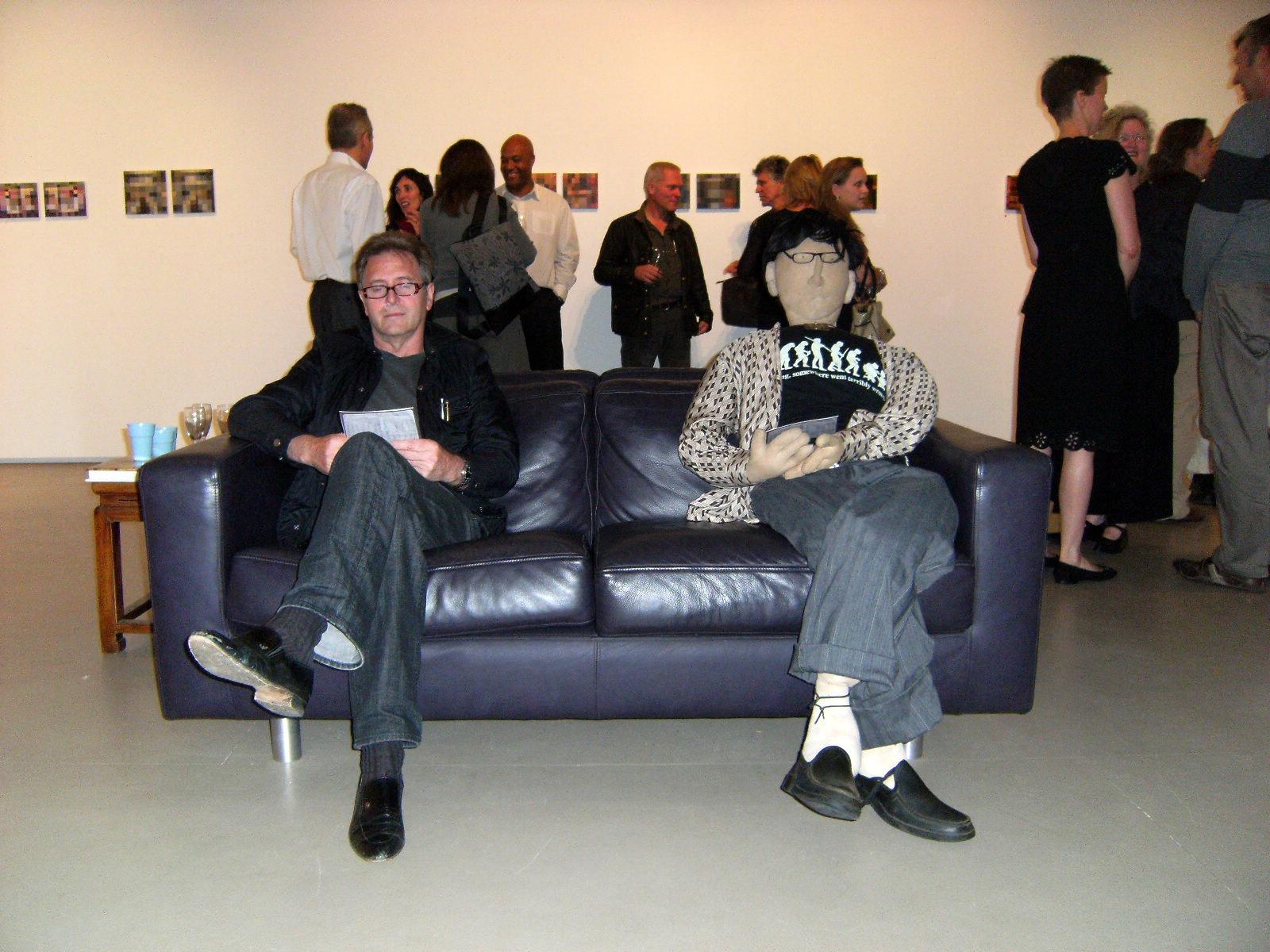 Gallery opening - Graeme & Som