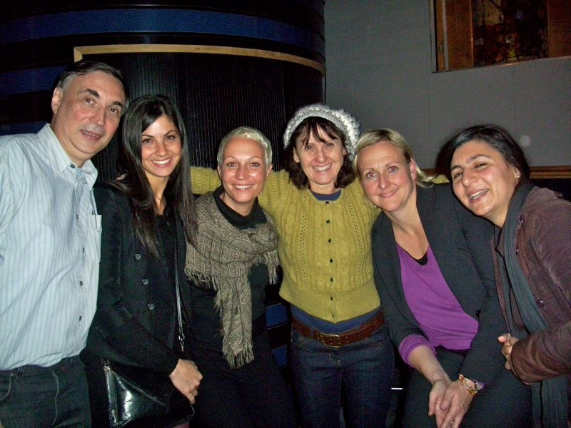 Yasmin, me & the crew