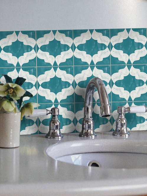 Why Not Accentuate Your Kitchen Or Bathroom With These Striking Moroccan Patterns These Easy To Use Tile Stickers Can Brighten Up Your Decor In Minutes