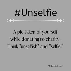 #Unselfie