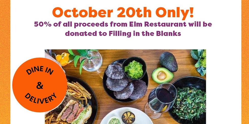 Dine to End Hunger @  Elm