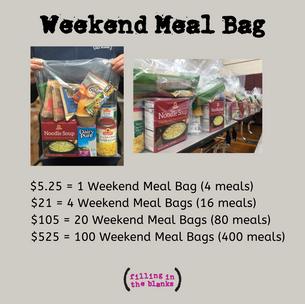 Weekend Meal Bag
