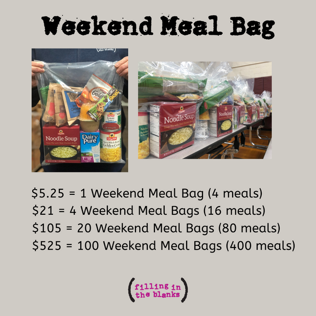 Weekend Meal Bag