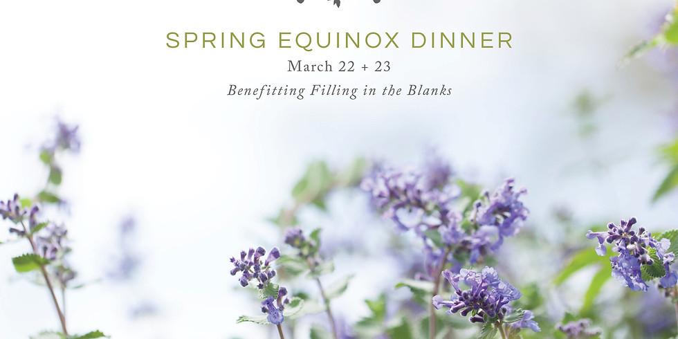 Spring Equinox Dinner at Terrain, Westport