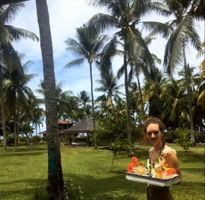 Follow me into the coconut garden :)