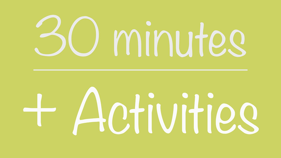 Library 30-minute + Activities Virtual Program