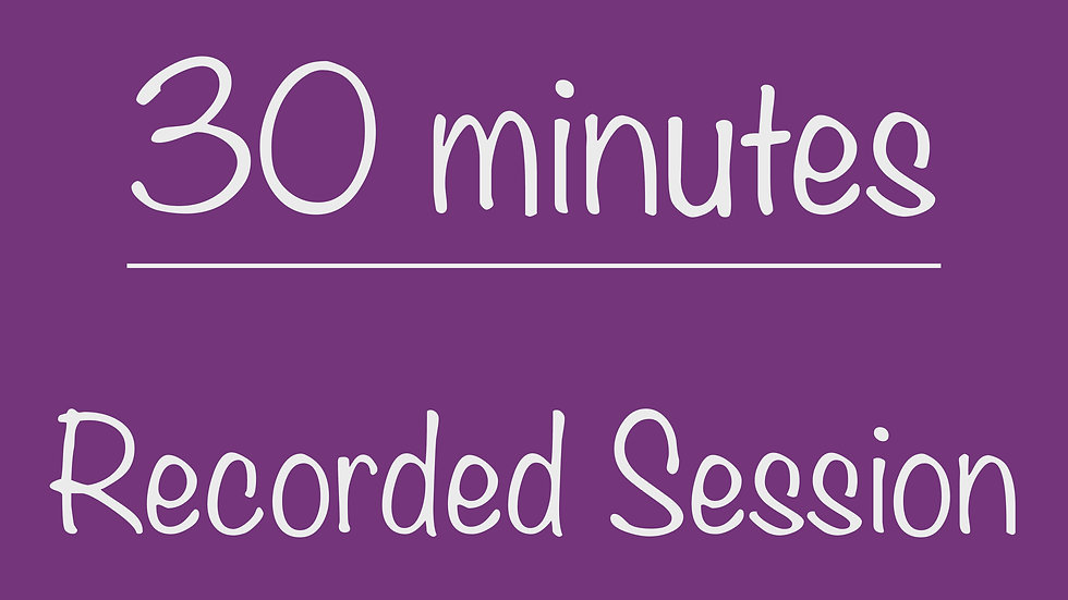 Elementary 30-minute Recorded Session