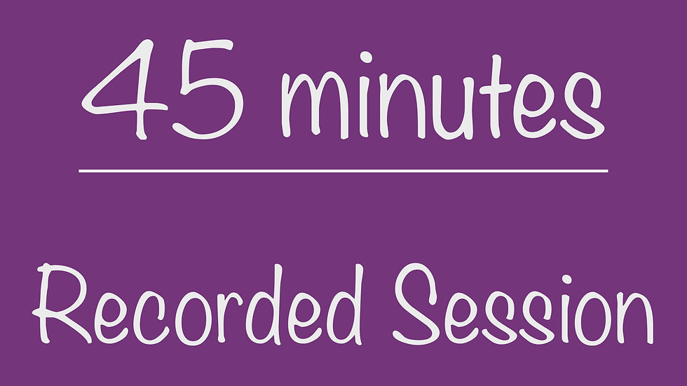 Elementary 45-minute Recorded Session