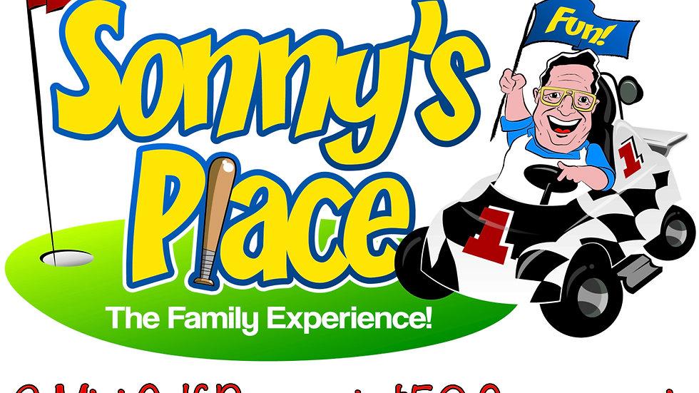 Sonny's Place 2 Mini Golf Passes & $50 Sonny-moni