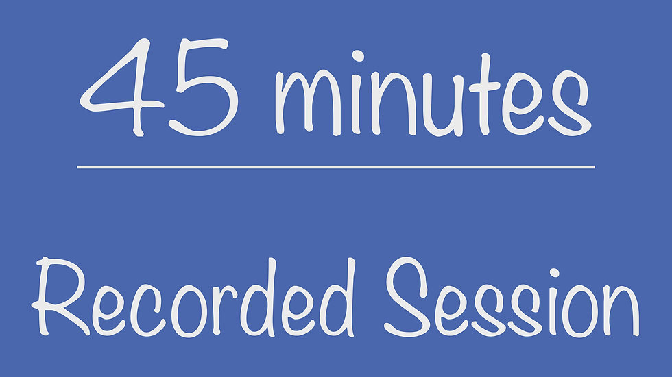 PreK 45-minute Recorded Program