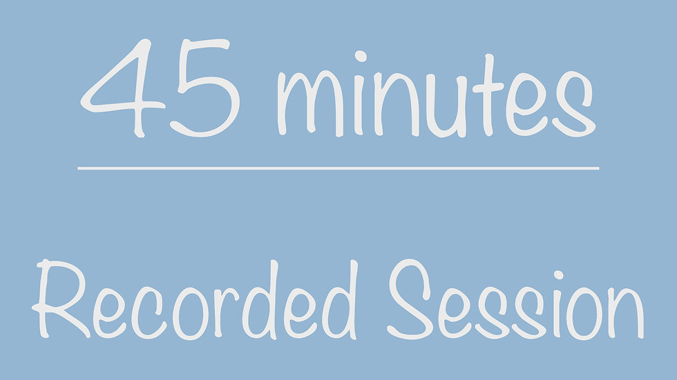 High School 45-minute Recorded Session
